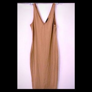 Zara Dark Tan bodycon Dress